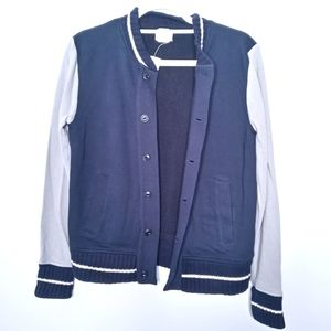 Crewcuts navy and grey button down jacket